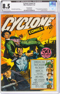 Golden Age (1938-1955):Adventure, Cyclone Comics #1 Pennsylvania Pedigree (Bilbara, 1940) CGC VF+ 8.5 Off-white to white pages....