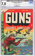 "Golden Age (1938-1955):Crime, Guns Against Gangsters #5 Davis Crippen ('D"" Copy) Pedigree (Novelty Press, 1949) CGC FN/VF 7.0 Off-white pages...."