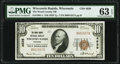 Wisconsin Rapids, WI - $10 1929 Ty. 1 The Wood County National Bank Ch. # 4639 PMG Choice Uncirculated 63 EPQ