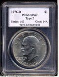 Eisenhower Dollars: , 1976-D $1 Type Two MS67 PCGS....