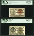 Miscellaneous:Other, World's Columbian Exposition 1893 Engraved Tickets Two Examples PCGS Graded Choice New 63PPQ; Very Choice New 64PPQ.. Colu... (Total: 2 notes)