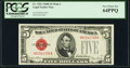 Fr. 1531 $5 1928F Wide I Legal Tender Note. PCGS Very Choice New 64PPQ