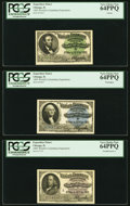 Miscellaneous:Other, World's Columbian Exposition 1893 Engraved Tickets Three Examples PCGS Very Choice New 64PPQ. . Lincoln;. Washington;... (Total: 3 notes)