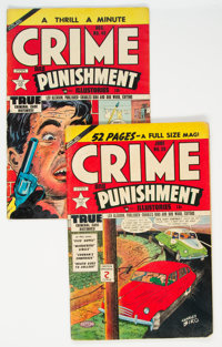Crime and Punishment #39 and 45 Drug Story Related Group (Lev Gleason, 1945).... (Total: 2 Comic Books)