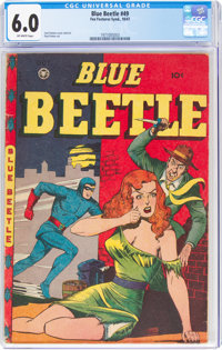 Blue Beetle #49 (Fox Features Syndicate, 1947) CGC FN 6.0 Off-white pages