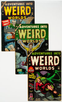 Adventures Into Weird Worlds Group of 4 (Atlas, 1953-54) Condition: Average VG+.... (Total: 4 Comic Books)