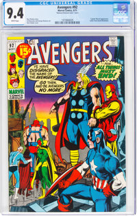 The Avengers #92 (Marvel, 1971) CGC NM 9.4 White pages