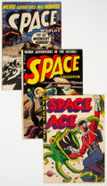 Golden Age (1938-1955):Science Fiction, Golden Age Space Related Group of 3 (Various Publishers, 1952) Condition: Average VG.... (Total: 3 Comic Books)