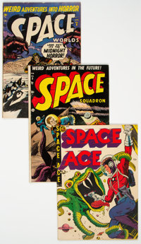 Golden Age Space Related Group of 3 (Various Publishers, 1952) Condition: Average VG.... (Total: 3 Comic Books)