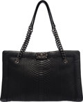 """Luxury Accessories:Bags, Chanel Black Python Large Boy Shopper Tote with PVD Hardware. Condition: 3. 15"""" Width x 9.5"""" Height x 7"""" Depth. ..."""