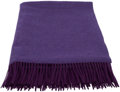 "Luxury Accessories:Home, Hermès Purple Cashmere Throw Blanket. Condition: 1. 59"" Width x 76"" Height. ..."