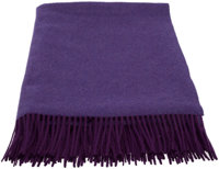 "Hermès Purple Cashmere Throw Blanket Condition: 1 59"" Width x 76"" Height"
