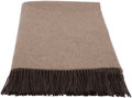 "Luxury Accessories:Home, Hermès Taupe Cashmere Throw Blanket. Condition: 1. 59"" Width x 76"" Height. ..."