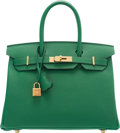 "Luxury Accessories:Bags, Hermès 30cm Bamboo Epsom Leather Birkin with Gold Hardware. D, 2019. Condition: 1. 12"" Width x 10"" Height x 6"" Dep..."