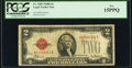 Fr. 1505 $2 1928D Non-Mule Legal Tender Note. B-A Block. PCGS Fine 15PPQ