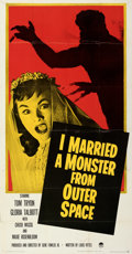 "Movie Posters:Science Fiction, I Married a Monster from Outer Space (Paramount, 1958). Folded, Very Fine. Three Sheet (41"" X 79"").. ..."