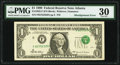Shifted Third Printing Error Fr. 1925-F $1 1999 Federal Reserve Note. PMG Very Fine 30