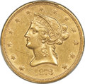 Liberty Eagles, 1873-S $10 AU55 PCGS....