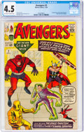 Silver Age (1956-1969):Superhero, The Avengers #2 (Marvel, 1963) CGC VG+ 4.5 Off-white to white pages....