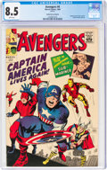 Silver Age (1956-1969):Superhero, The Avengers #4 Golden Record Reprint (Marvel, 1966) CGC VF+ 8.5 White pages....