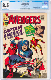 The Avengers #4 Golden Record Reprint (Marvel, 1966) CGC VF+ 8.5 White pages
