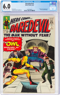 Daredevil #3 (Marvel, 1964) CGC FN 6.0 Off-white to white pages