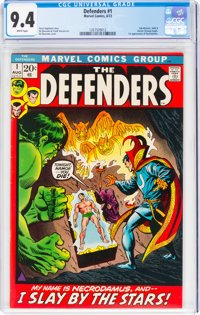 The Defenders #1 (Marvel, 1972) CGC NM 9.4 White pages