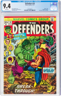 The Defenders #10 (Marvel, 1973) CGC NM 9.4 White pages