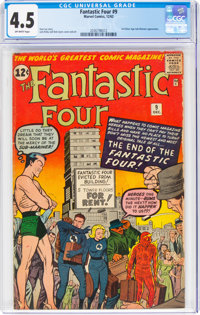 Fantastic Four #9 (Marvel, 1962) CGC VG+ 4.5 Off-white pages