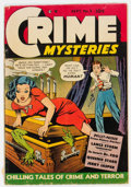 Golden Age (1938-1955):Crime, Crime Mysteries #3 (Ribage Publishing, 1952) Condition: VG....