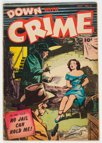 Down with Crime #5 (Fawcett Publications, 1952) Condition: VG+