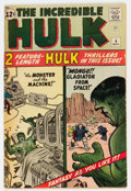 Silver Age (1956-1969):Superhero, The Incredible Hulk #4 (Marvel, 1962) Condition: VG....
