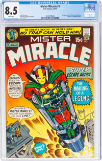 Mister Miracle #1 (DC, 1971) CGC VF+ 8.5 White pages