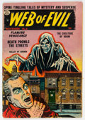 Golden Age (1938-1955):Horror, Web of Evil #8 Double Cover (Quality, 1953) Condition: VG/FN....