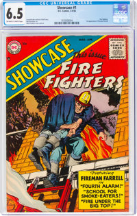 Showcase #1 Fire Fighters (DC, 1956) CGC FN+ 6.5 Off-white to white pages