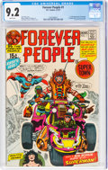 Bronze Age (1970-1979):Superhero, The Forever People #1 (DC, 1971) CGC NM- 9.2 White pages....