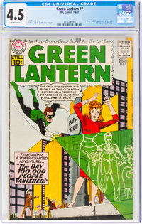 Green Lantern #7 (DC, 1961) CGC VG+ 4.5 Off-white pages