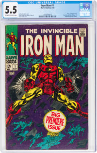 Iron Man #1 (Marvel, 1968) CGC FN- 5.5 Off-white to white pages