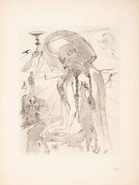 Salvador Dalí (1904-1989) Athena, from The Mythology, 1963 Engraving with aquatint on Arc