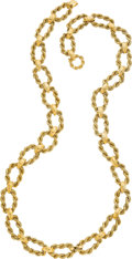 Estate Jewelry:Necklaces, Gold Necklace, Cellino . ...