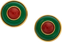 Carnelian, Chrysoprase, Gold Earrings, Tiffany & Co