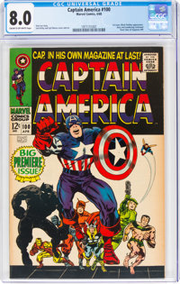 Captain America #100 (Marvel, 1968) CGC VF 8.0 Cream to off-white pages