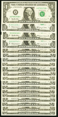 $1 Federal Reserve Star Note Twentieth Century Collection Nineteen Examples. ... (Total: 19 notes)