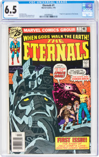 The Eternals #1 (Marvel, 1976) CGC FN+ 6.5 White pages