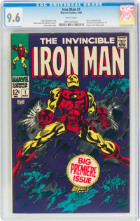 Iron Man #1 (Marvel, 1968) CGC NM+ 9.6 White pages