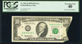 Pre-Face Print Foldover Error Fr. 2031-D $10 1995 Federal Reserve Note. PCGS Extremely Fine 40