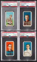 Baseball Cards:Lots, 1909-11 T206 Piedmont, Sovereign and Sweet Caporal SGC Graded Quartet (4)....