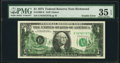 Partial Back to Face Offset Error and Obstruction Error Fr. 1908-E $1 1974 Federal Reserve Note. PMG Choice Very Fine 35...