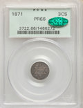 Proof Three Cent Silver: , 1871 3CS PR66 PCGS. CAC. PCGS Population: (31/6). NGC Census: (19/8). PR66. Mintage 960. ...