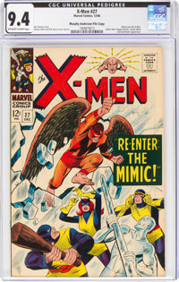 X-Men #27 Murphy Anderson File Copy (Marvel, 1966) CGC NM 9.4 Off-white to white pages